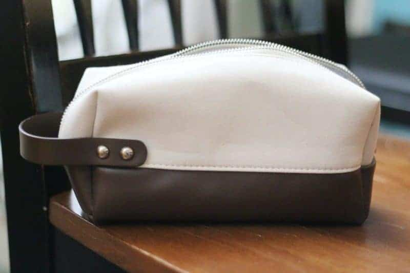 Dopp Kit toiletry bag from Target - perfect blank slate for personalizing