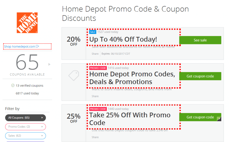 Everyday savings at Home Depot with Groupon Coupons