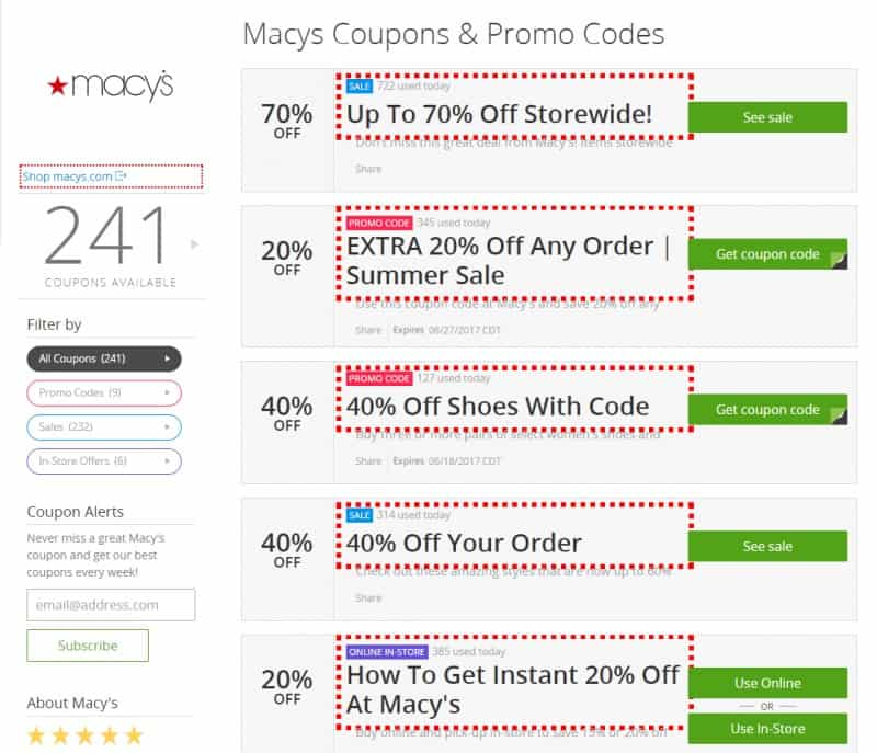 Macy's Groupon Coupons