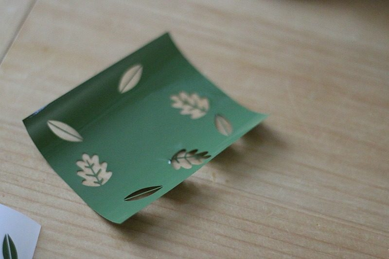 Negative from cut out leaves - Cricut Vinyl Mug pattern from Lia Griffith