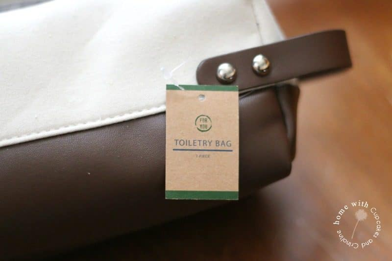 Personalized canvas toiletry bag - Dopp kit, from the Target Dollar Spot using Cricut iron-on vinyl