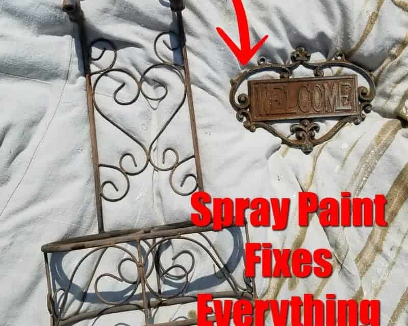 Easy Spray Paint Makeover – Outdoor Decor