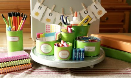 How to Create a Colorful Homework Station with Tin Cans