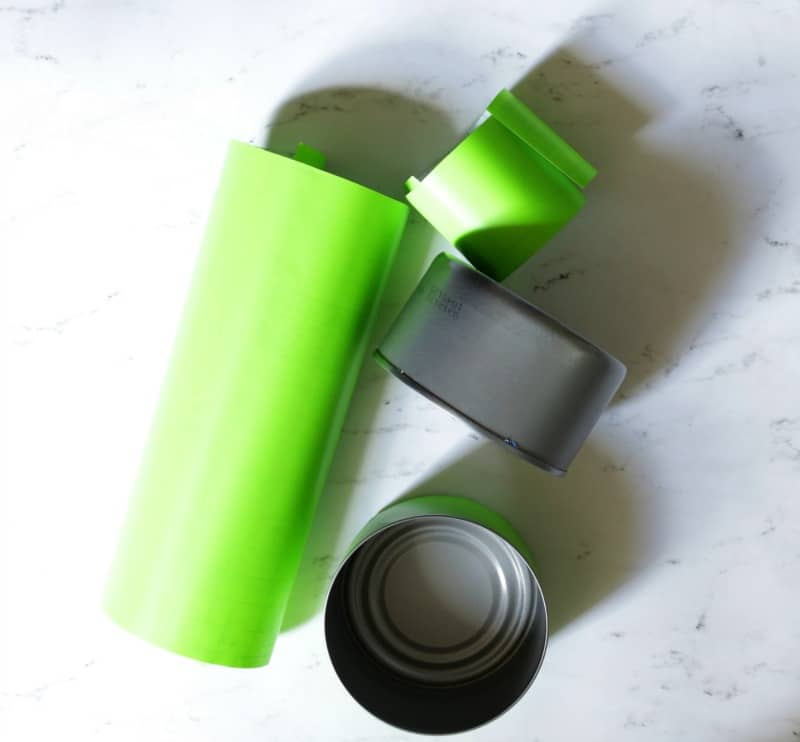 Covering tin cans for a colorful back to school homework station