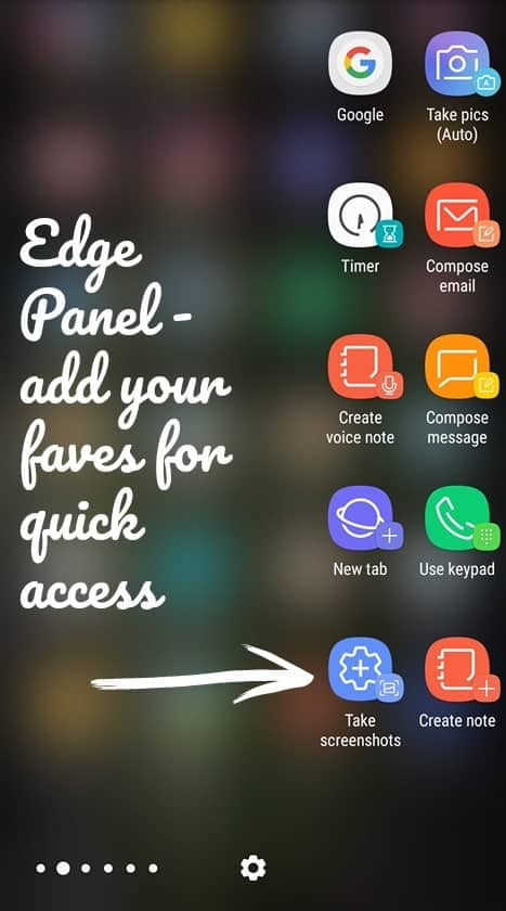Edge Panel - add your faves for quick access Samsung Galaxy S8