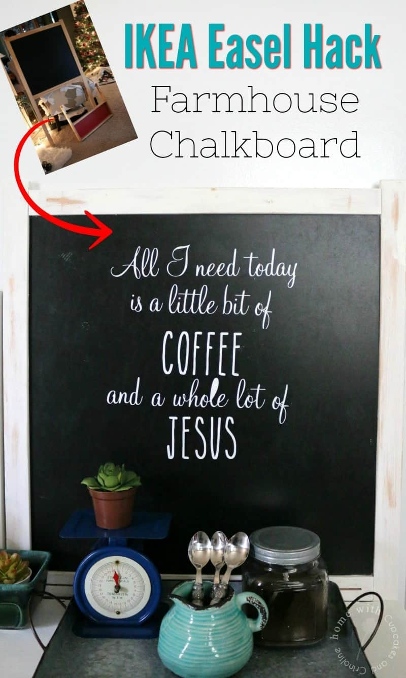 IKEA Easel Hack - How to make a Farmhouse Chalkboard