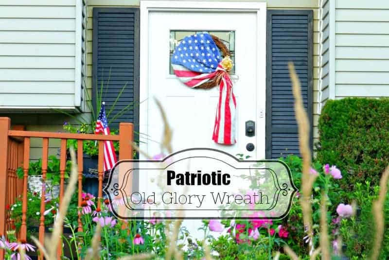 DIY Patriotic Old Glory Wreath