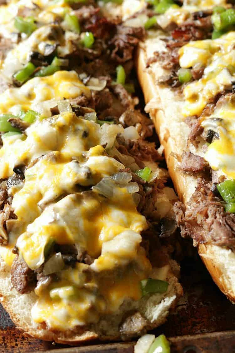 The Best Philly Cheese Steak for a Crowd - fresh out of the oven!