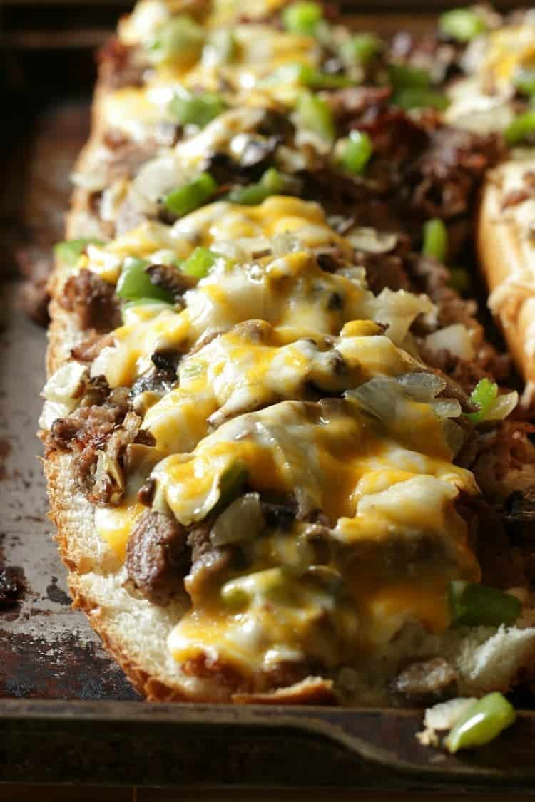 The Best Philly Cheese Steak for a Crowd - fresh out of the oven