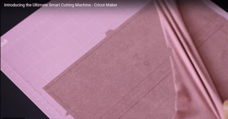 Cricut Maker marks and cuts out sewing patterns