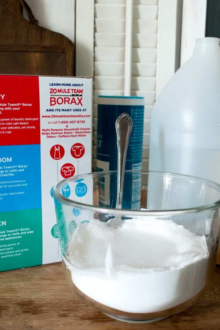 You only need a few basic, all natural ingredients, to make your own dishwasher detergent that works just as well as store bought cleaners.