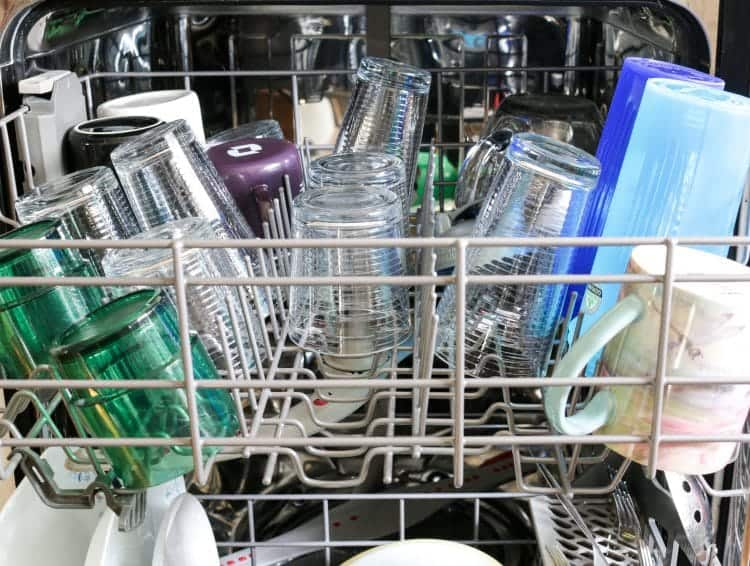 If you do add essential oil, stir one more time to mix everything well and then place in a storage container with a lid and measure out enough detergent to fill your dishwasher dispenser. I use a measuring spoon to add the detergent and that's it! Wash as usual.