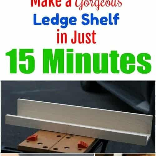 Make a Photo Ledge in 15 Minutes – Fixer Upper Style