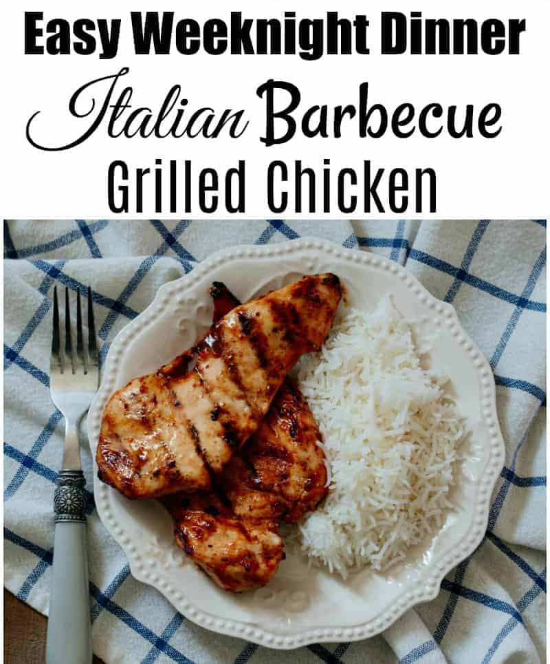 Italian Barbecue Grilled Chicken