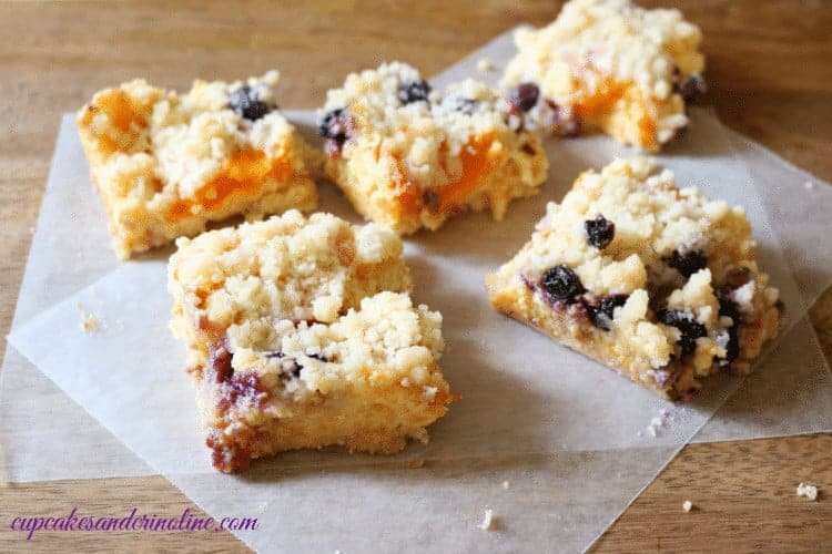 Apricot and Blueberry Cake ~ freshly cut and ready for serving ~ cupcakesandcrinoline.com