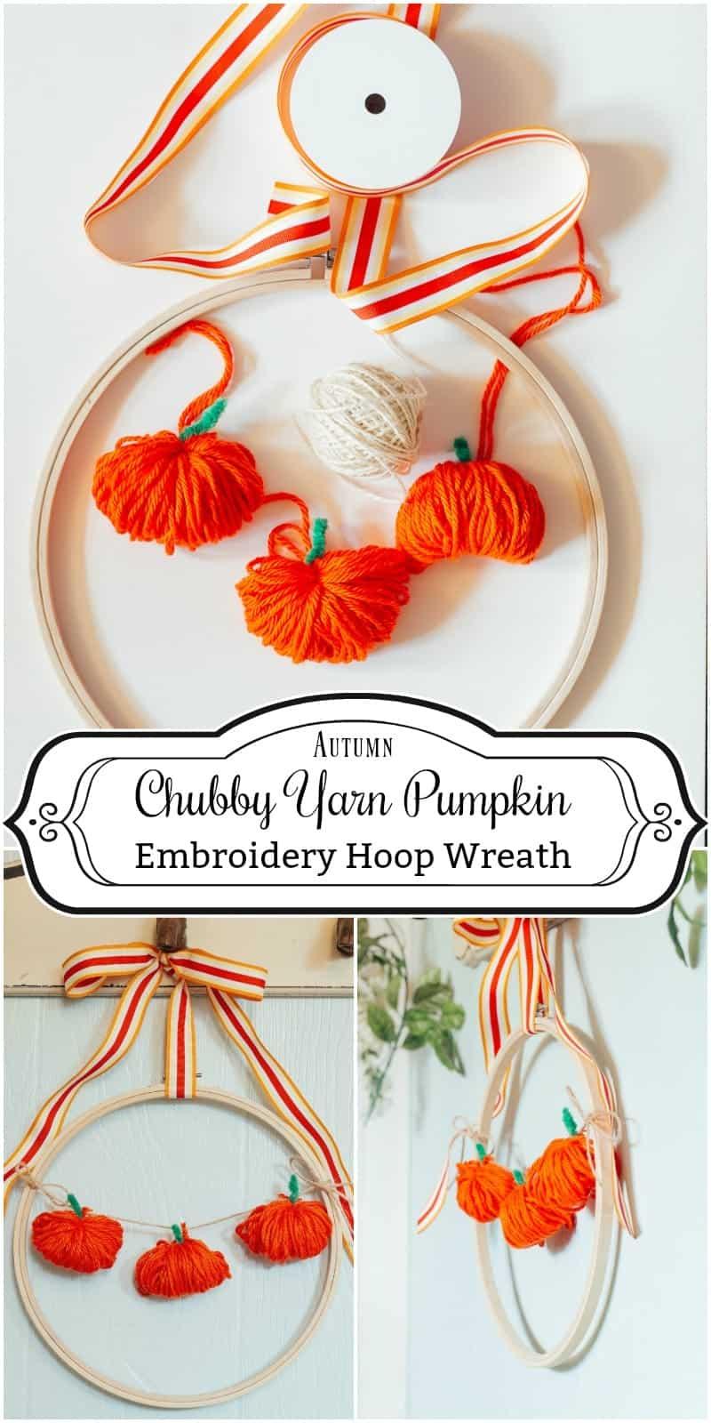 How to Make an Embroidery Hoop Chubby Pumpkin Wreath
