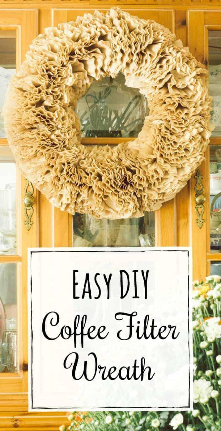 Easy DIY Coffee Filter Wreath Tutorial