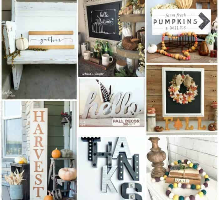 Embrace Fall with These Farmhouse Style Signs and Sayings