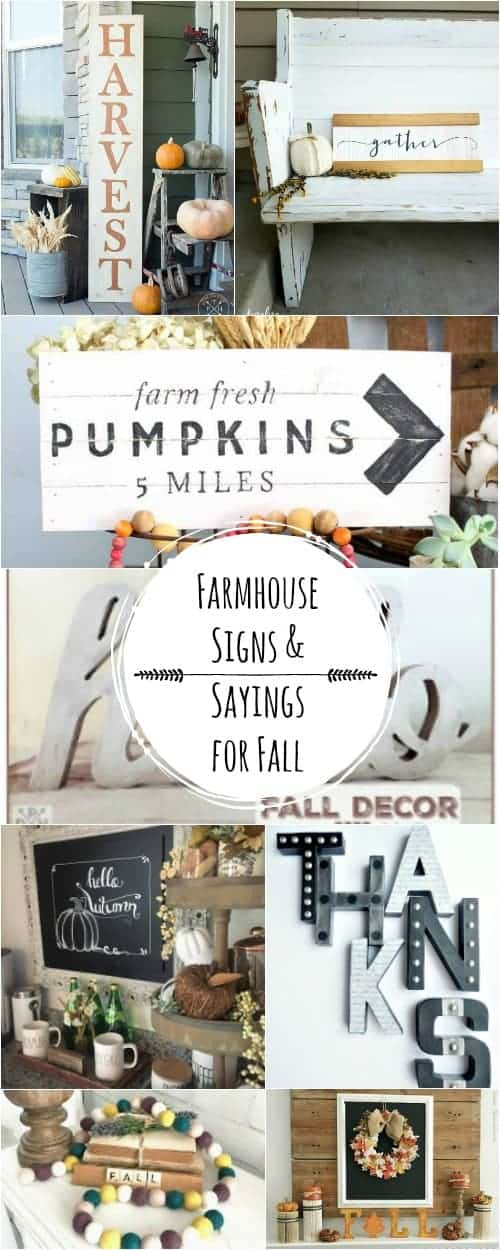 Farmhouse Style Fall Signs and Sayings