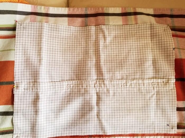 nd then cut. The grid pattern on the shirt made this very easy.