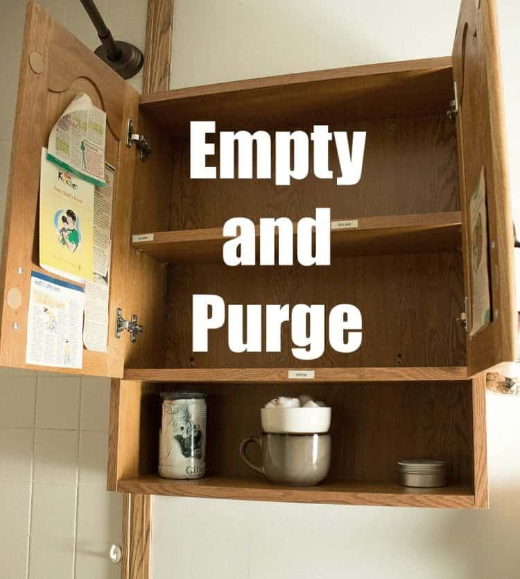 How-To Organize Your Medicine Cabinet - Empty and Purge