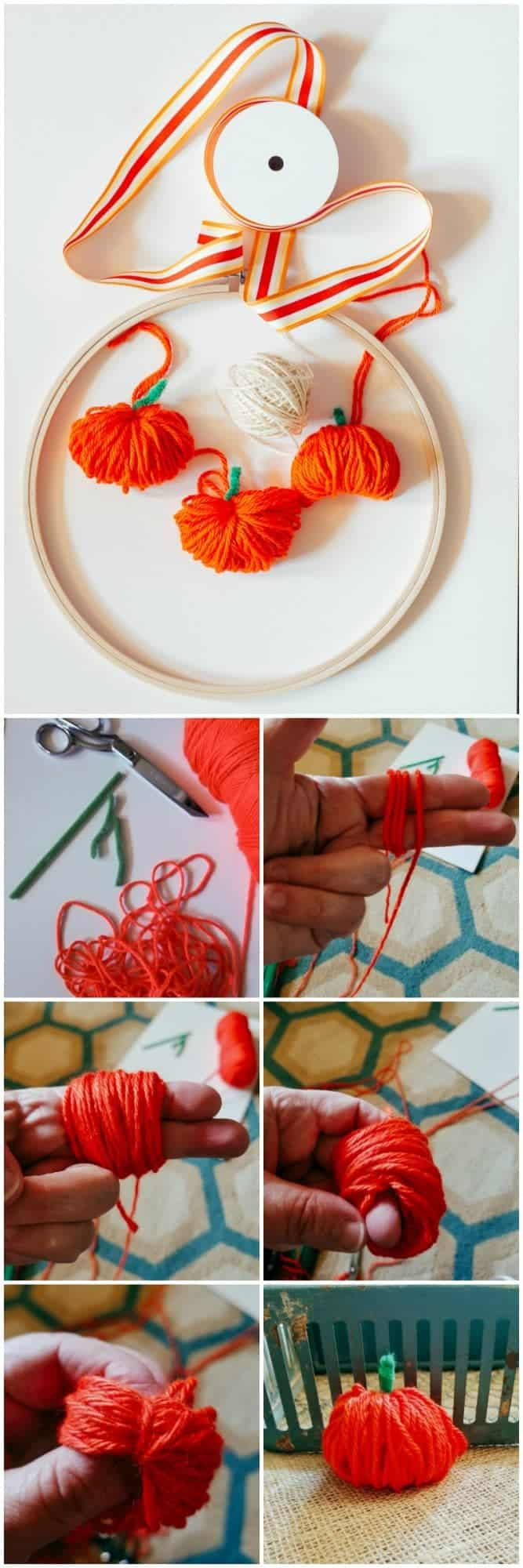 How to make a chubby yarn pumpkin
