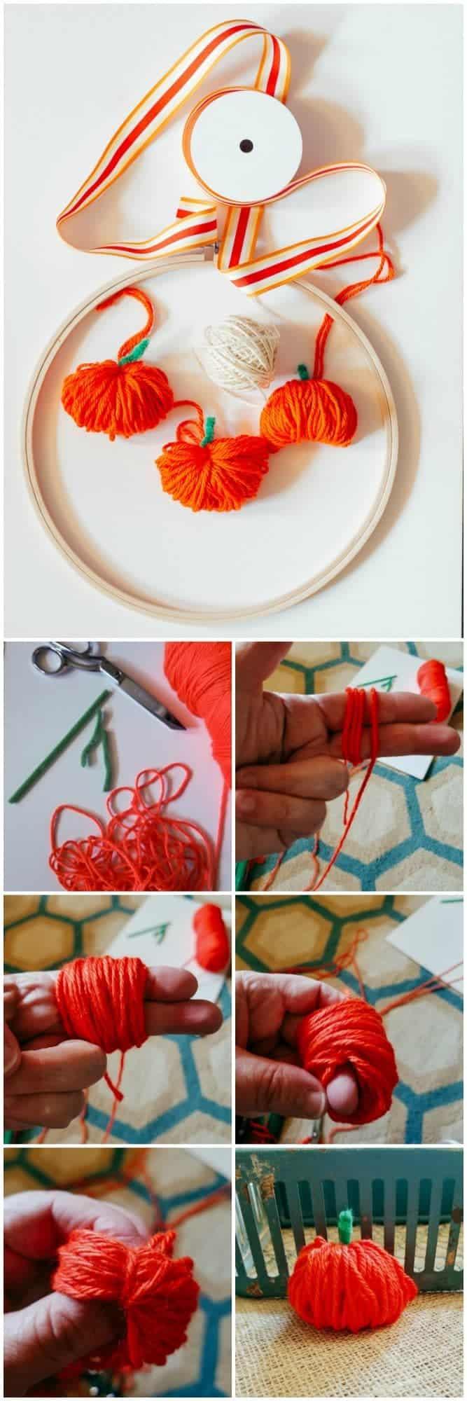 How to make a chubby yarn pumpkin
