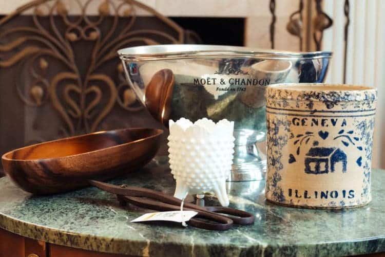 Moet and Chandon Punch Bowl and other Thrift Store Finds