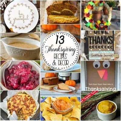 13 Thanksgiving Recipes and Decor Square
