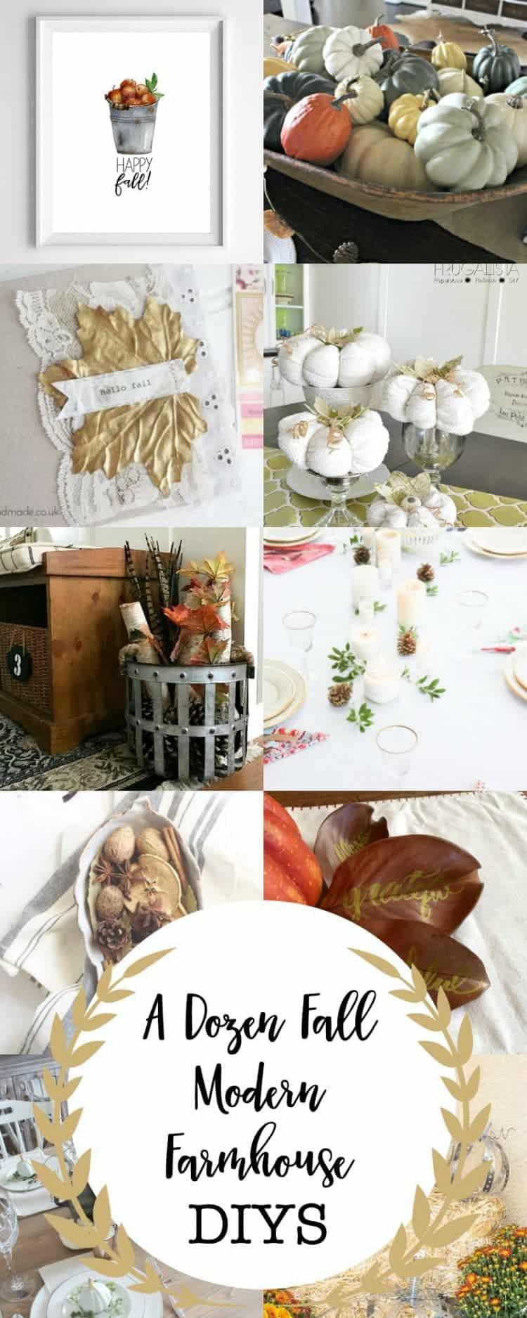 Fall Modern Farmhouse DIYS