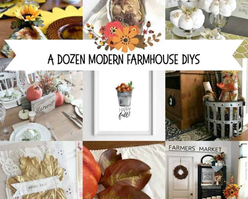12 Modern Fall Farmhouse DIYs