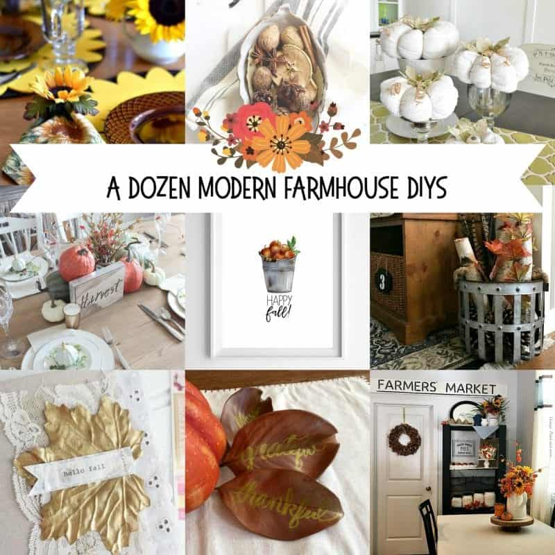 12 Modern Fall Farmhouse DIYs
