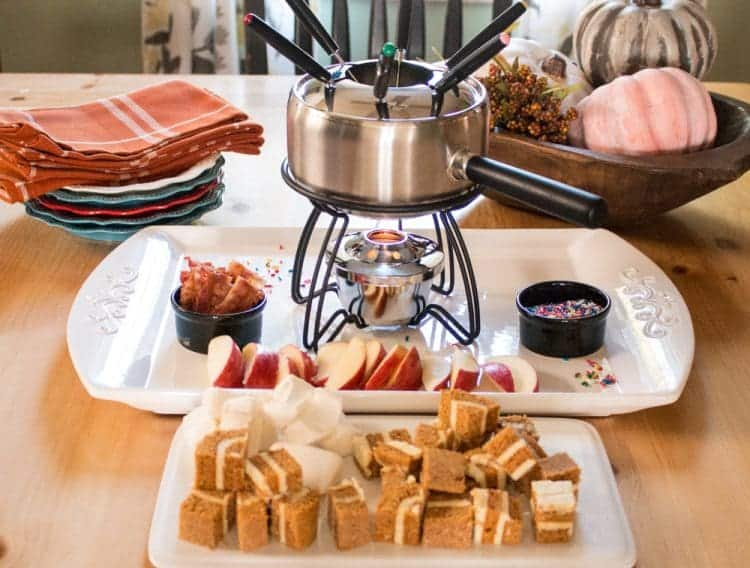 How-to rock fondue - homemade salted caramel sauce