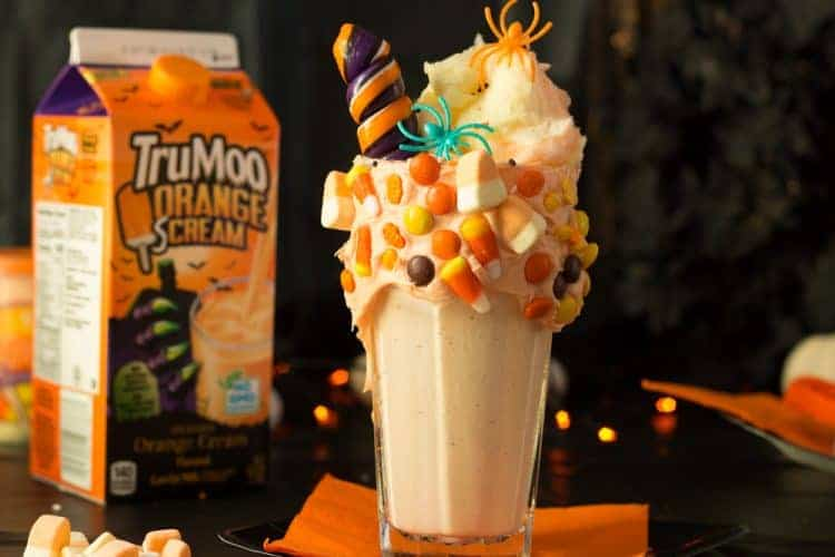 Add a straw, some plastic spiders and sprinkles.
