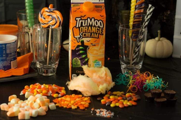 TruMoo Orange Scream - the perfect ingredient for a Halloween Inspired FreakShake!