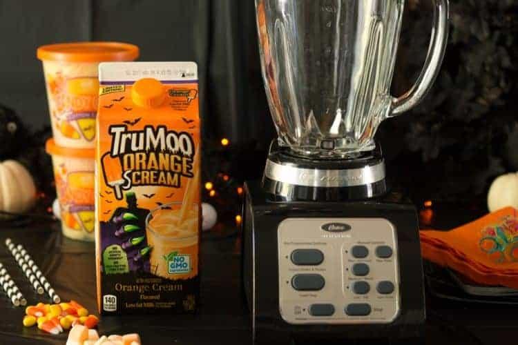 How-to make a Halloween Freak Shake with TruMoo Orange Scream
