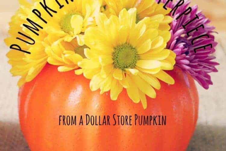 How-to Make a Pumpkin Vase Centerpiece