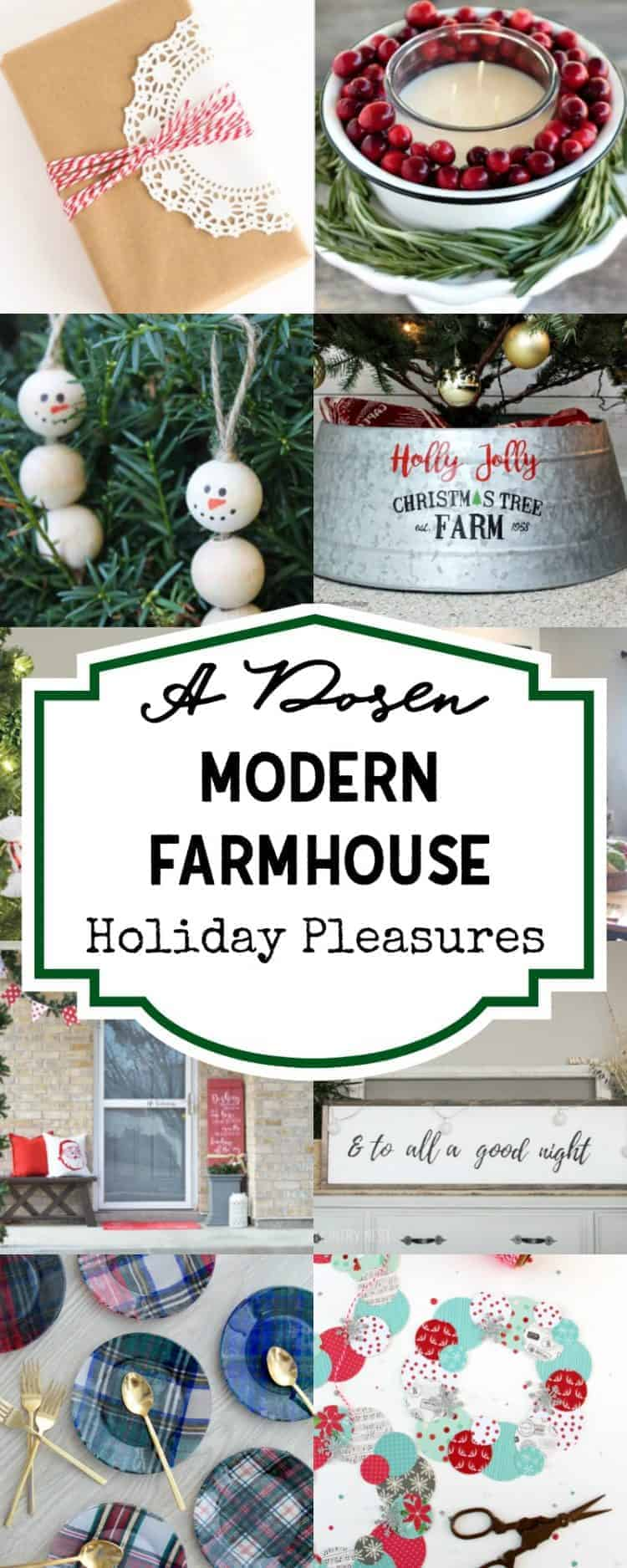 A Dozen Farmhouse Christmas Pleasures - Farmhouse decor and crafts for Christmas!