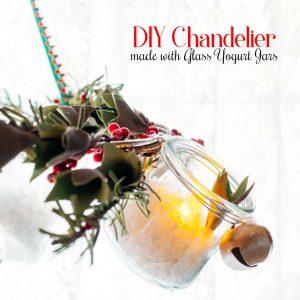 How To Make an Awesome Chandelier with Yogurt Jars