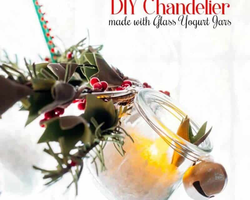How To Make an Awesome Chandelier with Yogurt Jars