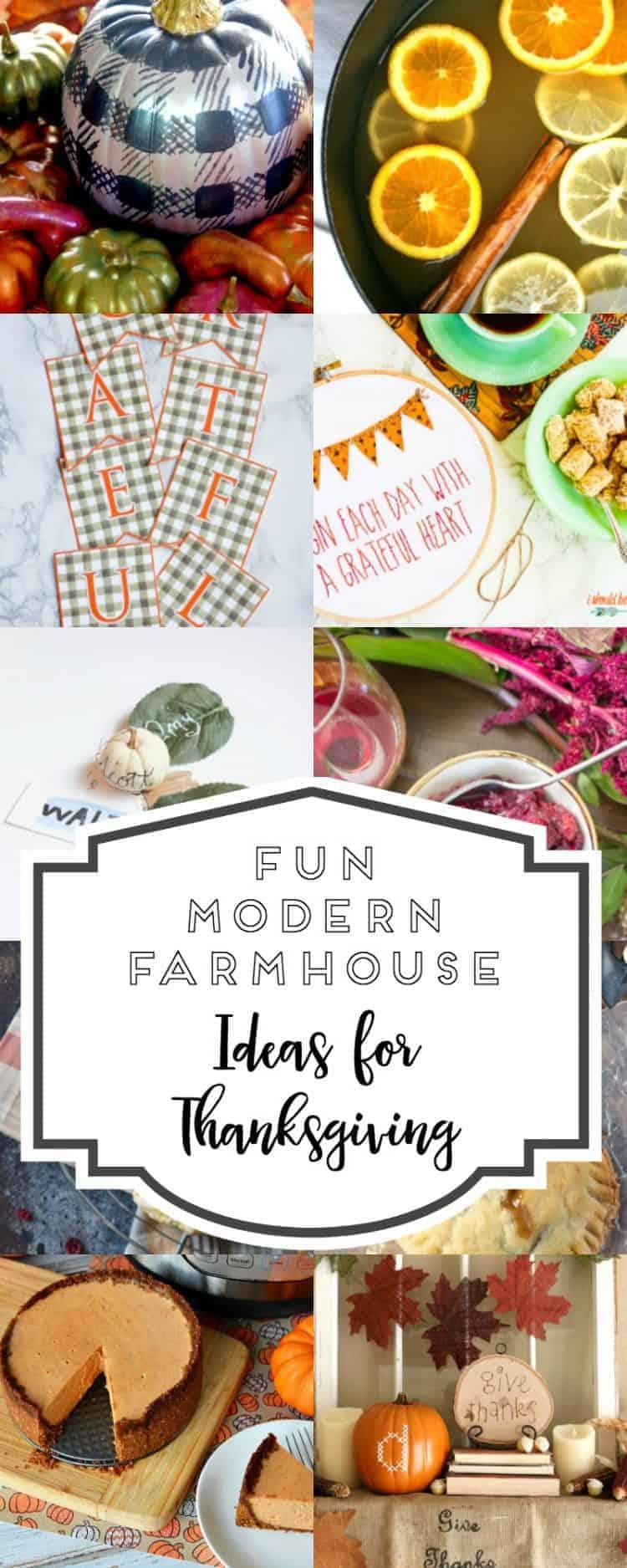 Fun Modern Farmhouse Ideas for Thanksgiving