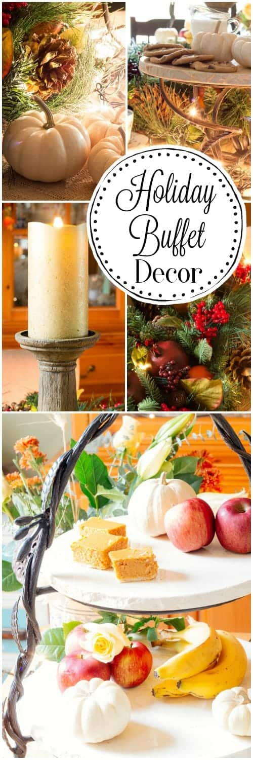 Holiday Tablescape Buffet Decor