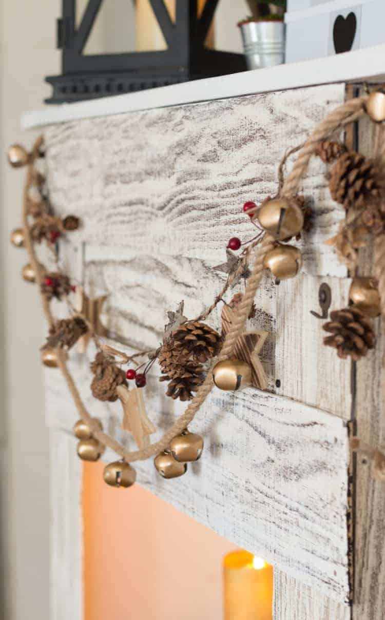 How To Make a Jingle Bell Garland - Fixer upper farmhouse style