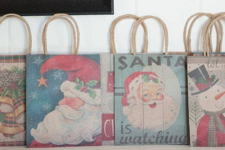 Vintage style Christmas Gift Bags from At Home