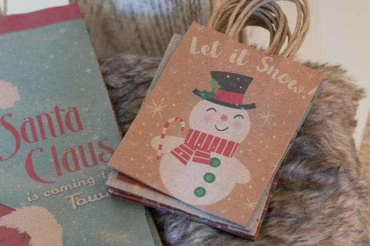 1950's vintage style Christmas Gift Bags from At Home