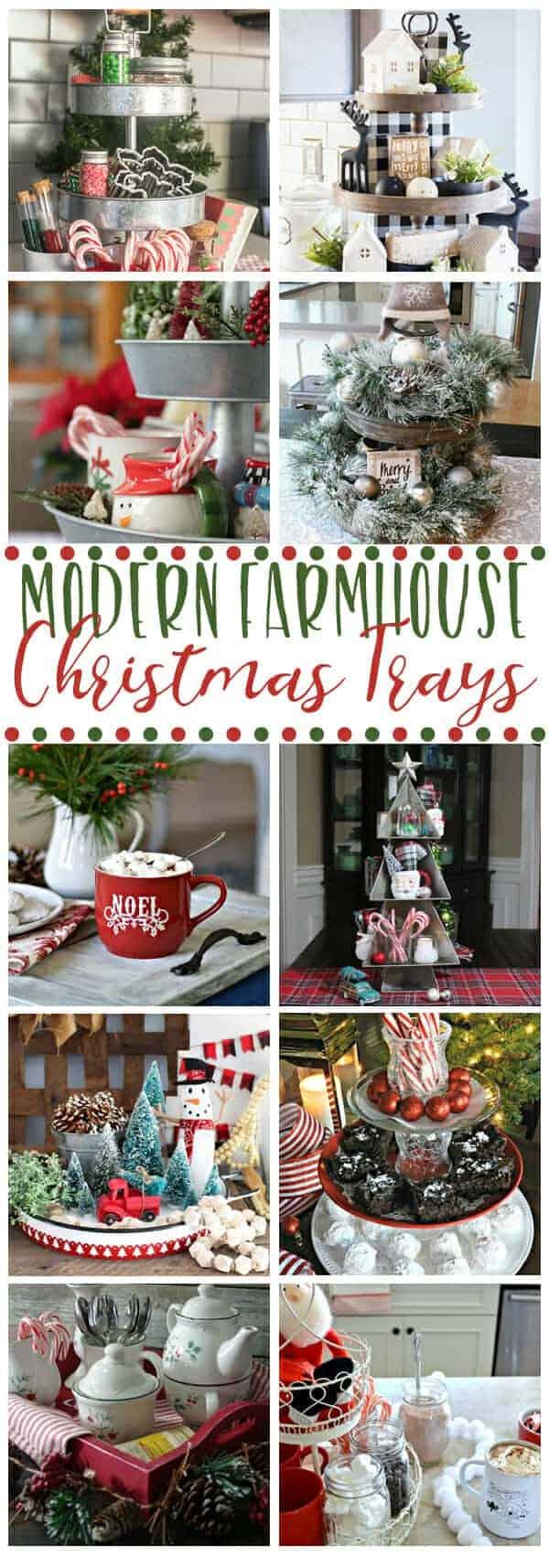 Modern Farmhouse Christmas Trays