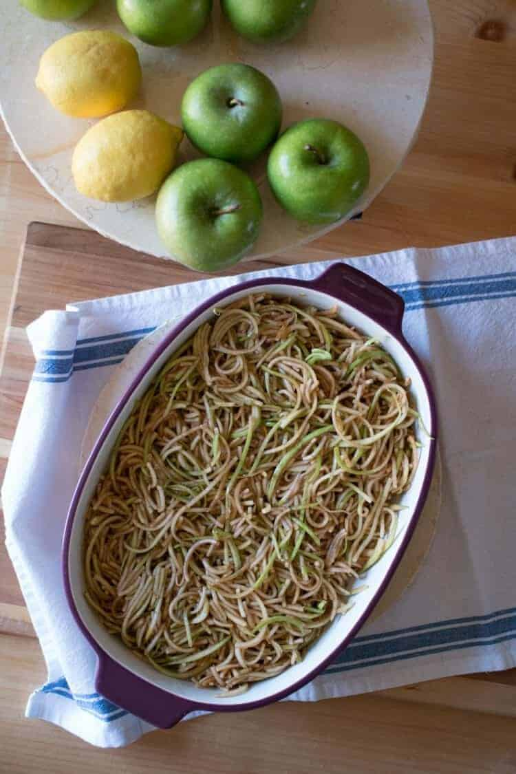 Spiralized Apple Salad and Apple Crumble Recipes made with the Ninja® Intelli-Sense™ Kitchen System with Auto Spiralizer™