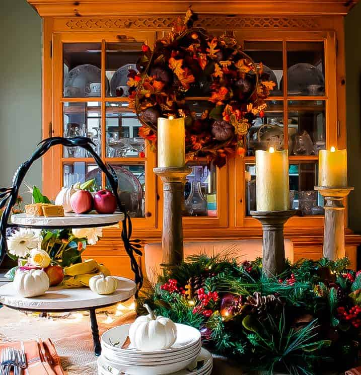 Beautiful Thanksgiving Tablescape Buffet