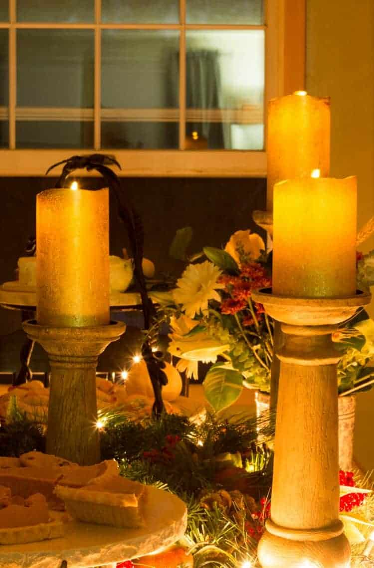Thanksgiving Tablescape Buffet Style from Balsam Hill