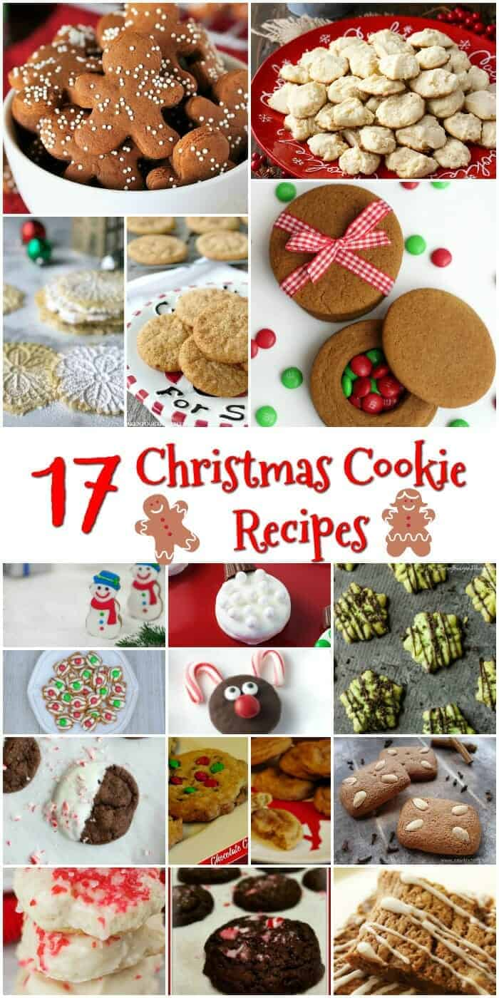 17 Delicious Holiday Christmas Cookie Recipes to Make This Year including traditional snickerdoodles and gingerbread - so much yumminess in one place!